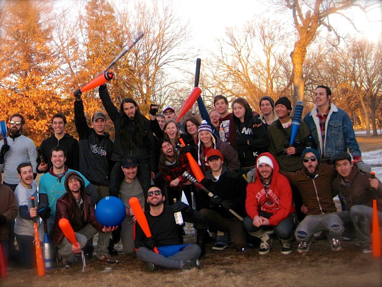 The Minneapolis Chapter of Johnball at Matthews Park. Bunch of rockstar hooligans, a lot from QBP.
