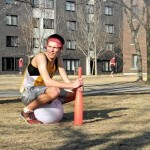 From New London. (NL-S). Adam is a college student at SJU (Saint John's University) CSBSJU. Outside Patrick Hall on campus. Dodgeball.