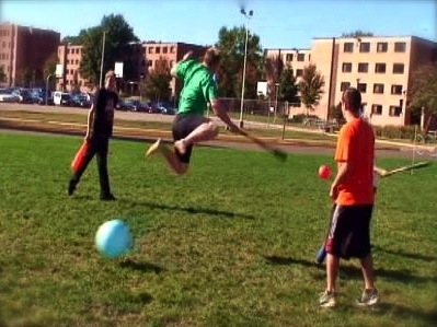 Whimsical sports. Casual pickup games. Nice Leap. Leapin lizards.