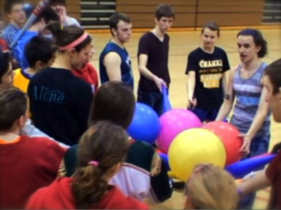 Group Game in the gym. Athletics at college. casual pickup sports.