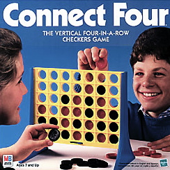 Classic Connect Four. 4 in a row, board game.