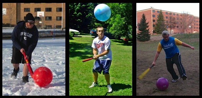 Interview with UWEC student on the invented sport, bat and ball game, Johnball. At Play john ball .com