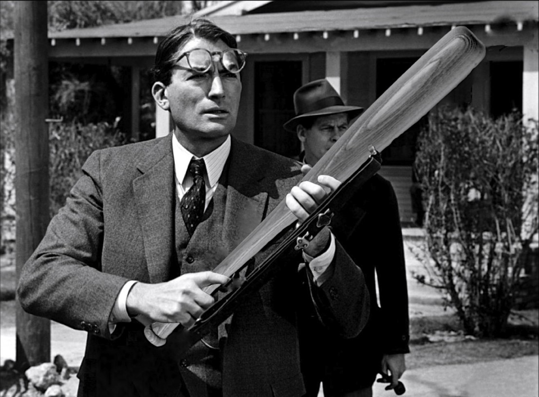 The classic American literature hero played by Gregory Peck in the 1962 film... playing Johnball. Look out, Bob Ewell. Finch is certainly the greatest hero in American film, and one of The 20 All Time Coolest Heroes in Pop Culture.