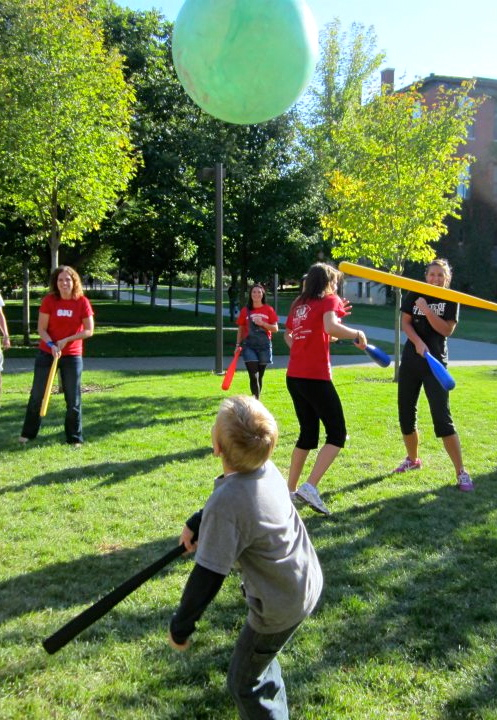 At the College of St. Benedict - Saint John's University ( CSBSJU ), college students bond over an obscure sport outside the dorms.