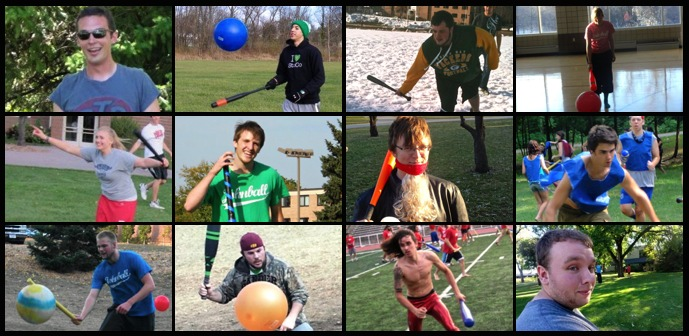 Sport / Game of Johnball. Johnballers include Jeremy Hauglid, Drake Osterhout, Jeremy Gerber, Timm Uhlmann, Allison Ley, Andrew Petz, Michael Charles Frank, Brian Mager, Dana Schumann.